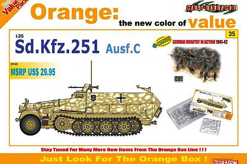 Sd.Kfz.251 Ausf. C + пехотинцы 1941-42, Cyber Hobby Dragon 1:35 9135
