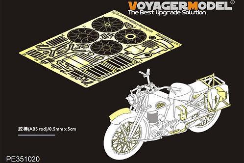 PE351020 Voyager Model B.S.A M20 Military Motorcycle upgrade set (TAMIYA) - п/з