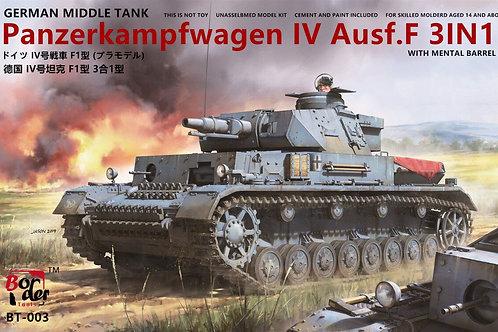 Немецкий танк Pz.IV F1 (3в1) Border 1:35 BT-003