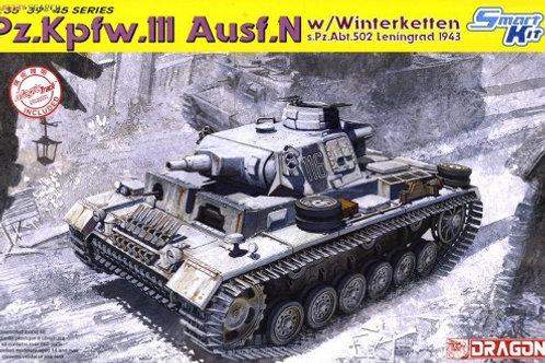 Pz.Kpfw.III Ausf.N w/Winterketten s.Pz.Abt.502 Leningrad 1943 - Dragon 6606 1:35