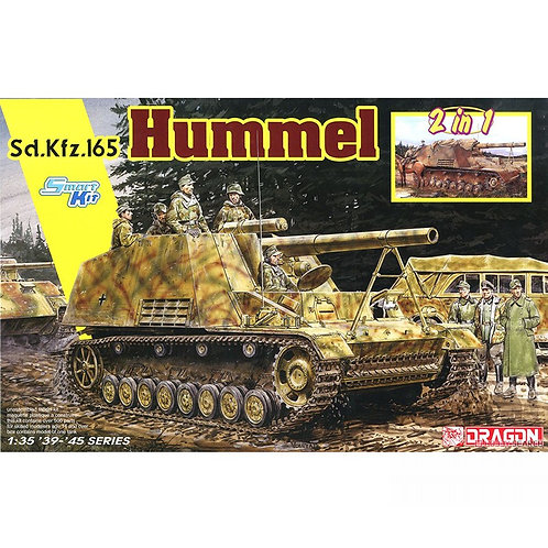 (в пути) Самоходка Hummel 2в1, DS траки, ствол металл - Dragon 1:35 6935