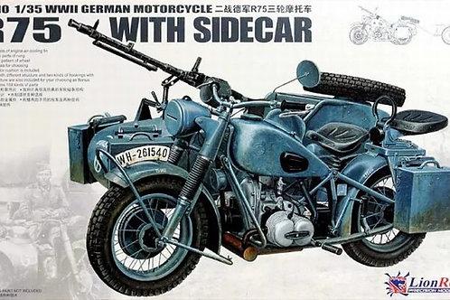Мотоцикл BMW R75 with Sidecar - Great Wall Hobby 1:35 L3510 - под заказ