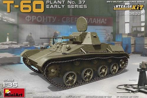Советский танк Т-60 ранний выпуск, с интерьером - 35224 MiniArt 1/35