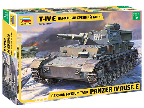 Звезда 3641 1/35 Немецкий средний танк T-IV E (Pz. IV Ausf. E)