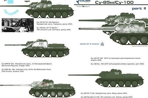 35022 Colibri Decals 1/35 Декали СУ-85М, СУ-100, часть 2
