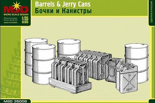 Бочки и канистры - MSD 35008 Макет 1/35 (набор для диорамы)
