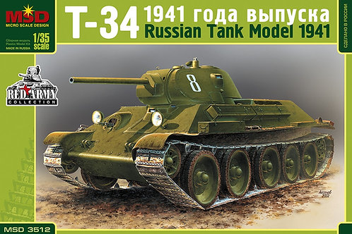 Советский танк Т-34-76 образца 1941 года - 3512 MSD Макет 1/35