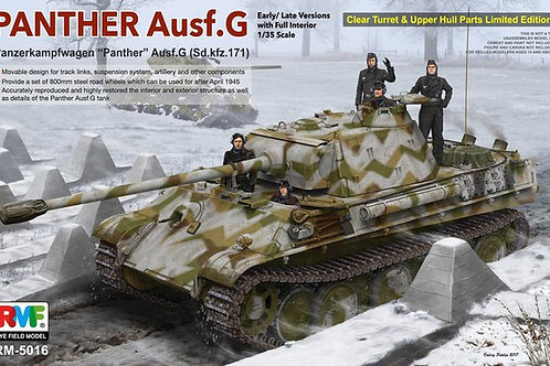 (п/заказ) Panther Ausf.G Early/Late интерьер+прозрачные детали RFMRM-5016 1:35