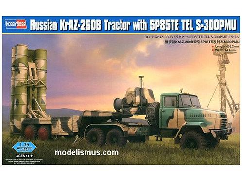 "Hobby Boss 85511 ЗРС С-300 ПМУ ""Фаворит"" на базе КрАЗ-260Б и полуприцепа 5П85ТЕ"
