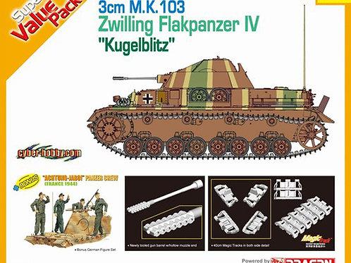 30mm M.K. 103 Zwilling Flakpanzer IV Kugelblitz - Cyber Hobby 1:35 9109 + экипаж