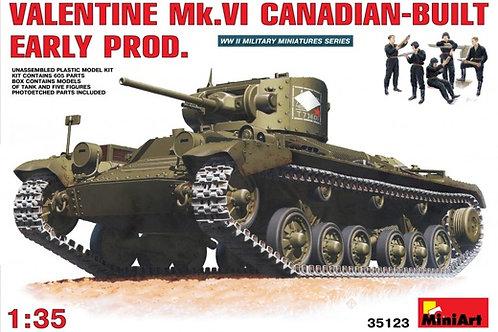 35123 MiniArt 1/35 Танк Valentine Валентайн Mk. VI (канадский вариант) +танкисты