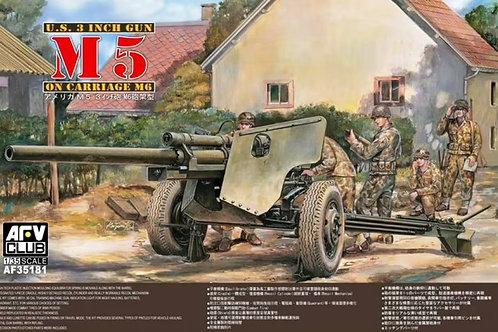Пушка U.S. 3 inch gun M5 on carriage M6 - AFV Club 1:35 AF35181