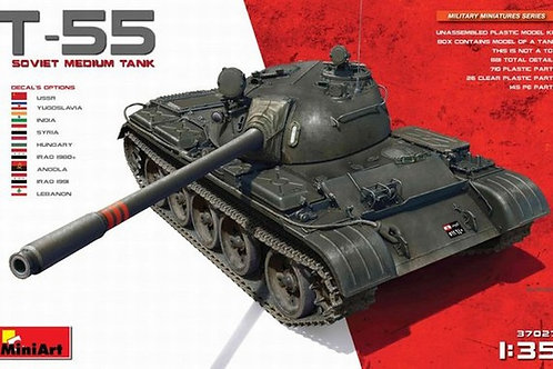 Советский средний танк Т-55 (без интерьера) сборная модель - MiniArt 37027 1/35