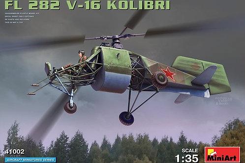 "41002 MiniArt 1/35 Вертолет FL 282 V-16 ""Kolibri"" (Колибри) советский вариант"