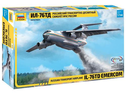 Российский самолет Ил-76 ТД МЧС России - Звезда 7029 1/144
