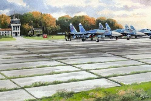 72214 ICM 1/72 Советские плиты аэродромного покрытия ПАГ-14 - наборы для диорам