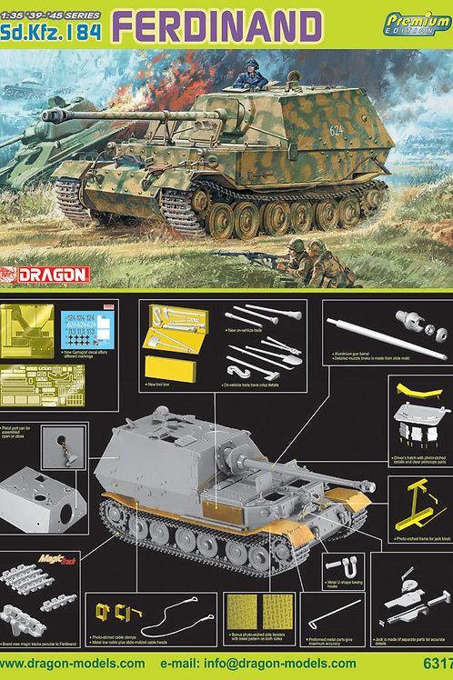 (под заказ) Немецкая САУ Фердинанд PREMIUM Edition - Dragon 1:35 6317