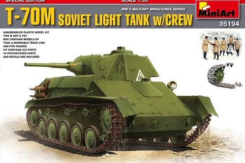 Т-70М советский легкий танк с экипажем - MiniArt 35194 1/35