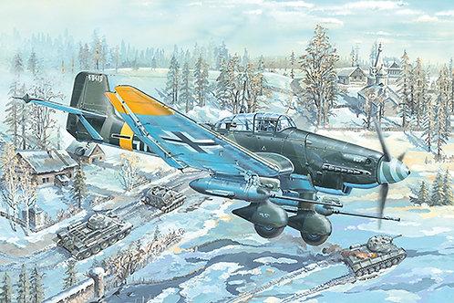 Самолет Юнкерс Ю-87 (G-2) Штука / Junkers Ju-87G-2 Stuka - Trumpeter 1:24 02425