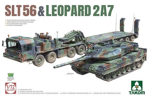 (предзаказ) Набор 1+1 тягач SLT56  и танк Leopard 2 A7 - Takom 1:72 5011