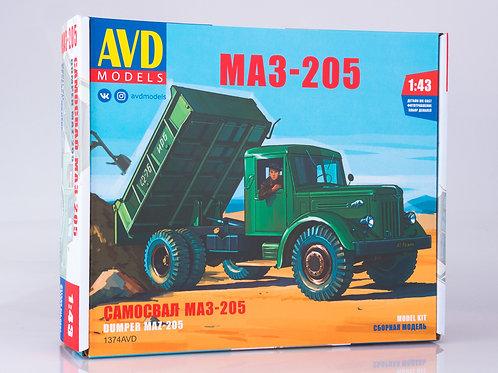 МАЗ-205 самосвал - AVD Models 1374AVD 1:43