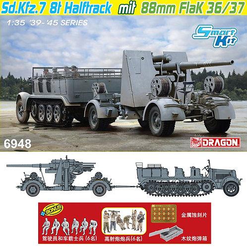 Sd.Kfz.7 8(t) Halftrack + 88mm FlaK 36/37 - Dragon 6948 1/35
