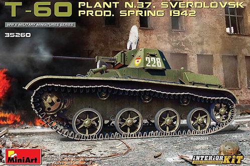 Танк Т-60 завода №37, весна 1942 г, с интерьером - MiniArt 35260 1/35