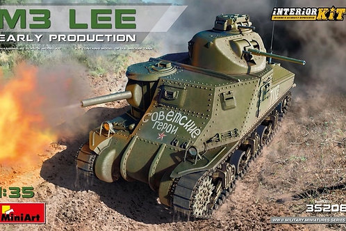 Американский танк М3 Ли / M3 Lee с полным интерьером - MiniArt 35206 1/35