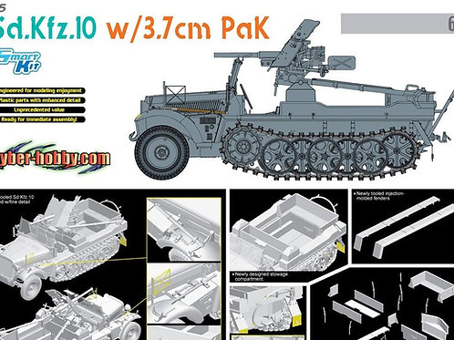 Sd.Kfz.10 w/3.7cm PaK - Dragon / Cyber Hobby 6709 - 1:35