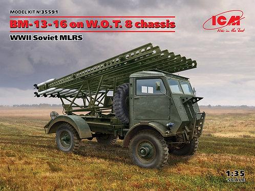 35591 ICM 1/35 Советская РСЗО БМ-13-16 на шасси WOT8