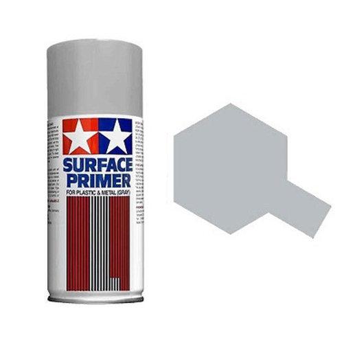 87042 TAMIYA Грунтовка серая для пластика и металла Surface Primer L GREY 180 мл