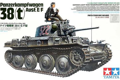 (п/заказ) Танк Прага Pz. 38(t) Ausf.E/F с фигурой командира - Tamiya 35369 1/35