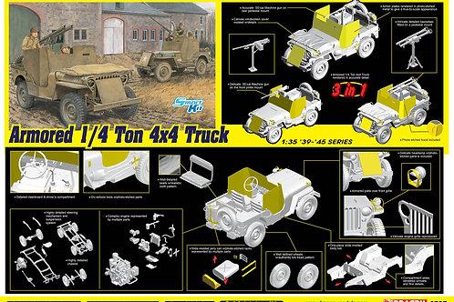 Armored 1/4-Ton 4x4 Truck w/.50-cal Machine Gun - Dragon 1:35 6727 под заказ