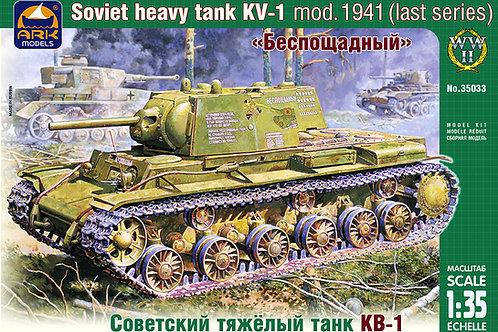 """Советский танк КВ-1 """"Беспощадный"""" обр. 1941 года, поздний выпуск - ARK models 35"""