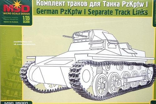 Наборные траки для немецкого танка Т-1 (Pz.Kpfw.I) - MSD 35001 Макет 1/35