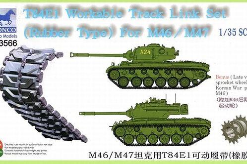 (под заказ) T84E1 Workable Track Link Set (Rubber), M46/M47 - Bronco 1:35 AB3566