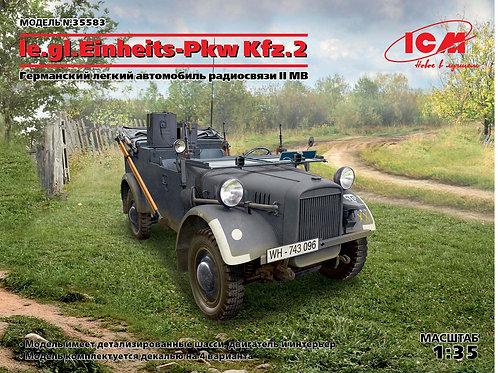 ICM 35583 le.gl.Einheitz-Pkw Kfz.2, Германский легкий автомобиль радиосвязи 1:35