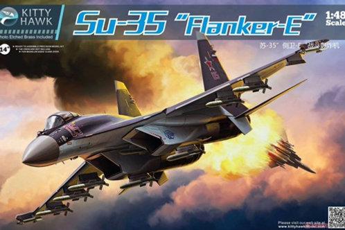 Сборная модель Российский истребитель Су-35 Flanker-E - Kitty Hawk KH80142 1:48