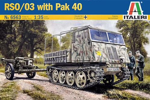 Немецкий тягач Steyr RSO/03 и пушка Pak 40 - Italeri 1:35 6563