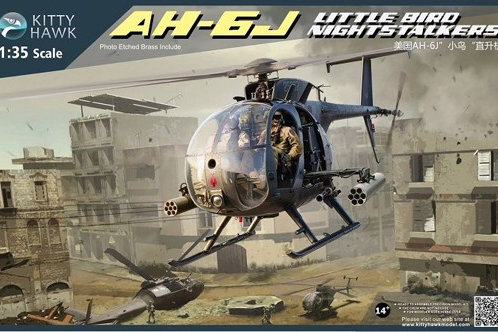 (под заказ) AH-6J / MH-6J Little Bird Nightstalkers - Kitty Hawk KH50003 1:35