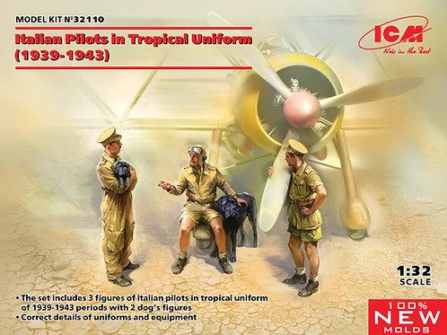 ICM 32110 1:32 Фигуры, Итальянские пилоты в тропической униформе (1939-1943)