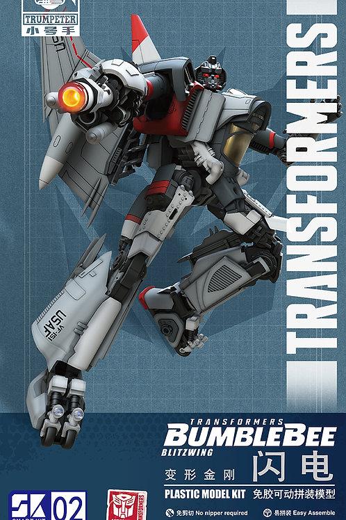 Трансформер Blitzwing Transformer, сборка без клея, цветные детали - 08101 Trump