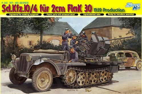 (под заказ) Sd.Kfz.10/4 für 2cm FlaK 30, 1939 Production - Dragon 6739 1:35