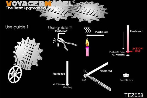 (под заказ) Трафарет-шаблон для болтов и гаек - TEZ058 Voyager Model (круглый)
