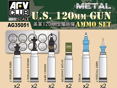120-мм американские снаряды для танка Абрамс - AFV Club AG35051 1/35 - под заказ