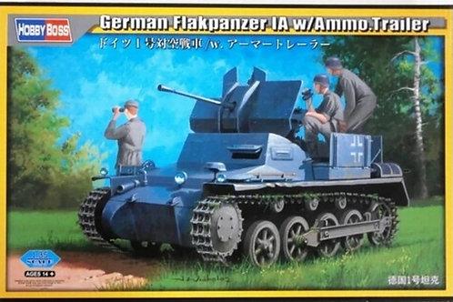 Немецкая ЗСУ German Flakpanzer IA w/Ammo Trailer SPAAG - Hobby Boss 1:35 80147
