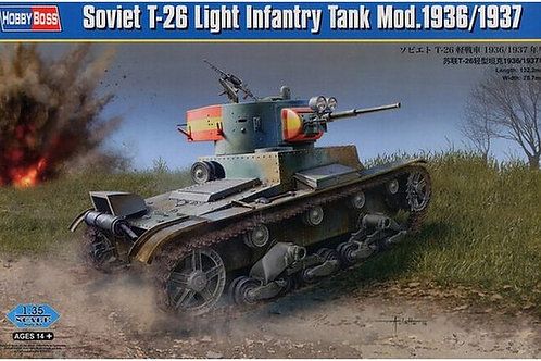 Советский легкий танк Т-26 мод. 1936/1937 г. - Hobby Boss 83810 1:35