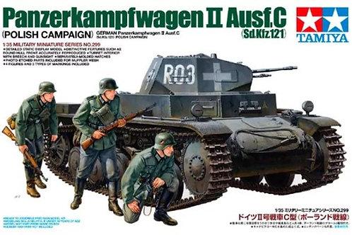 Немецкий танк PzKw II Ausf C, польская кампания 1939 - Tamiya 35299 1/35