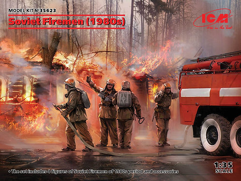 ICM 35623 1/35 Фигуры, Советские пожарные (1980-е годы)