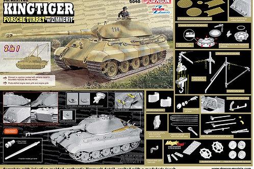 King Tiger башня Порше с циммеритом и лебедкой - Dragon 6848 1/35 (Magic)